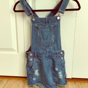 H&M Overall Jean Shorts